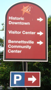 Bennettsville way finding signs.